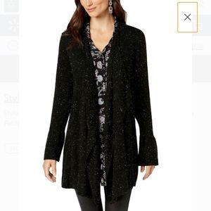 Style & Co Ruffle Sleeve Cardigan Sweater - Medium